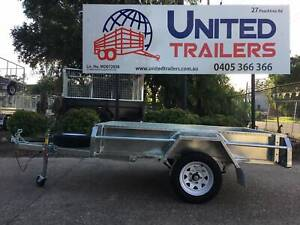 8 x 5 SINGLE GALVANISED BOX TRAILER WITH 600MM MESH CAGE Vineyard Hawkesbury Area Preview