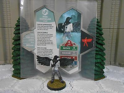 Heroscape Custom Rigel Ravenclaw Double Sided Card   Figure W  Sleeve Vydar