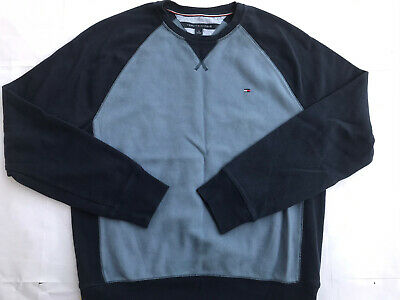 Mens Tommy Hilfiger Pullover Crewneck Sweater Blue Size Medium