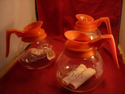 3 Commercial Decaf Coffee Pots Decanters Replacements Carafe For Bunn Germany D