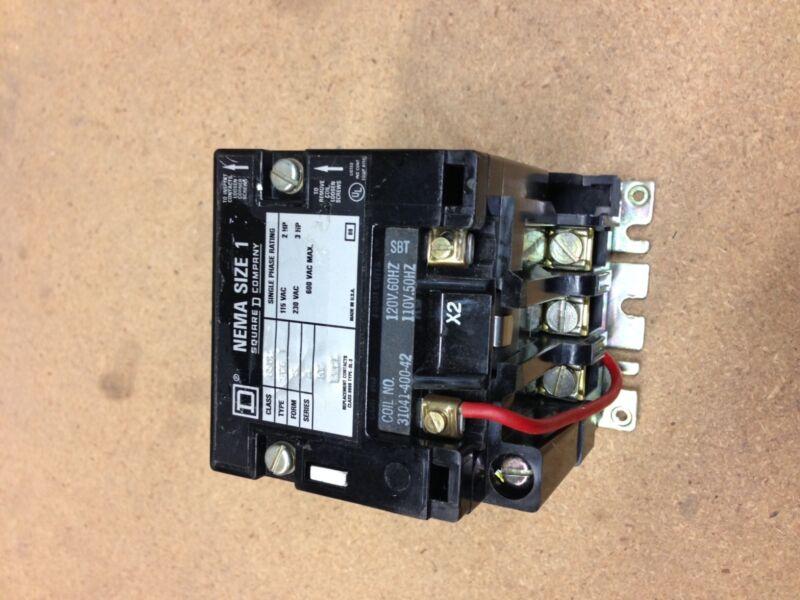 8502SCG1 Square D Contactor 120V Coil