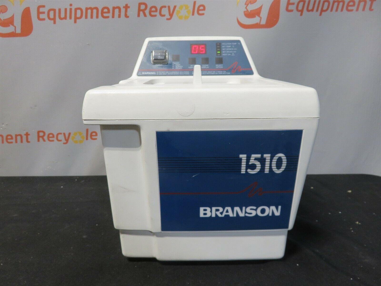 Branson Bransonic 1510 1510R-DTH Ultrasonic Cleaner Water Bath 1/2 Gallon