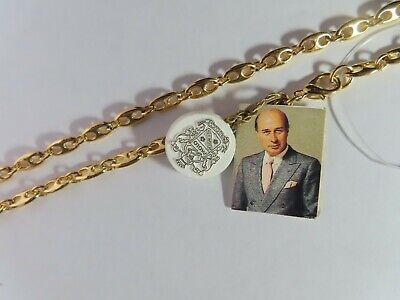 Vintage Paolo Gucci Gold Tone Navy Link Chain 16""