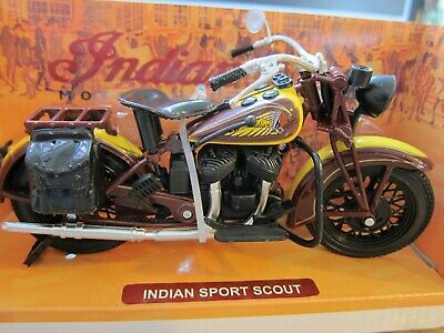 ORIGINAL Indian Motorcycle Sport Scout 1:12  2863683 Modell Motorrad Olditimer