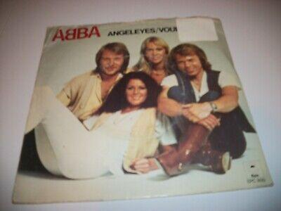 """ABBA- ANGEL EYES VOULEZ VOUS VINYL 7"""" 45RPM PS"""