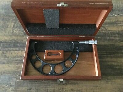 Brown Sharpe 6-7 Od Micrometer In Wood Case With Wrench Usa Made.