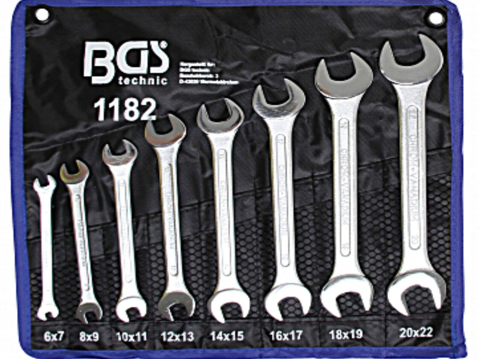 BGS 8-tlg Satz Doppel Maulschlüssel DIN3110 Doppelmaulschlüssel Gabelschlüssel
