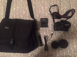 Canon rebel t3 with extras