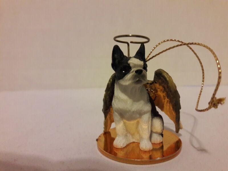 Boston Terrier Tiny Ones Angel ornament