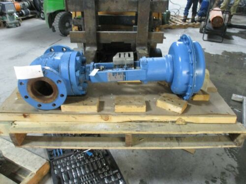 """NELES-JAMESBURY VALVE CAT# G110NGC32HB8A SIZE 4"""" STEEL BODY 285PSIG #12316T USED"""