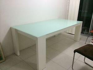 6 seater glass tabletop dining table Bethania Logan Area Preview