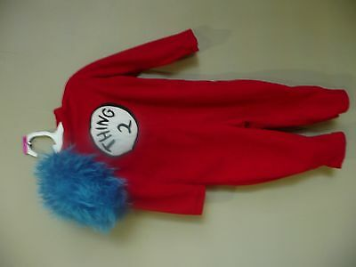 Cat In The Hat Costume For Girls (Pottery Barn Kids Cat in the Hat dr Seuss Thing 2 Two costume  2T 3T )