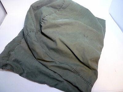 "Vintage U.S. Military Army Green Drawstring Duffle or Laundry Bag  22"" X 40"""