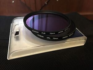 2x 72mm lens filters - FLD & CPL