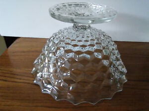 Fostoria American Tom & Jerry Footed Crystal Punch Bowl 13