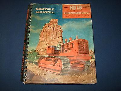 Allis Chalmers Hd19 Crawler Tractor Dozer Service Shop Repair Book Manual