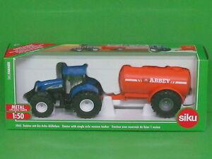 1:50 Siku Farmer 1945 New Holland T7070 Traktor mit Ein-Achs-Güllefass