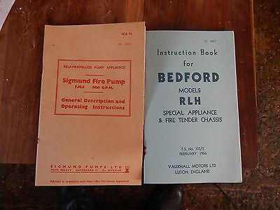 Bedford RLHZ Green Goddess and Sigmund pump manual