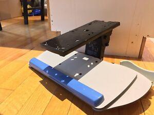 Keyboard tray under-mount ergonomic
