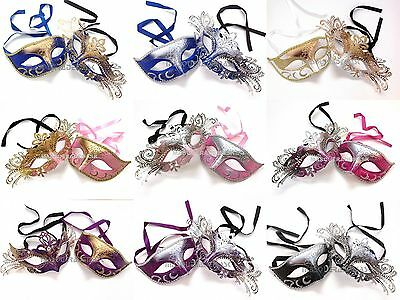 Wholesale Couple Masquerade Ball Mask Pair Costume Quincenera Birthday Party - Masquerade Masks Wholesale