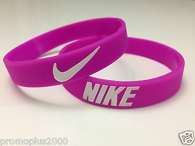 Nike Sport Baller Band Pink w/white logo Silicone Rubber Bracelet Wristband