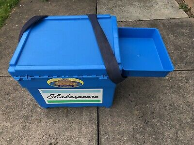 SHAKESPEARE FISHING SEAT BOX WITH TRAY AND TACKLE BOX