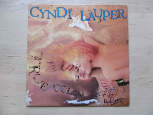 "Cyndi Lauper Autogramm signed LP-Cover ""True Colors"" Vinyl"