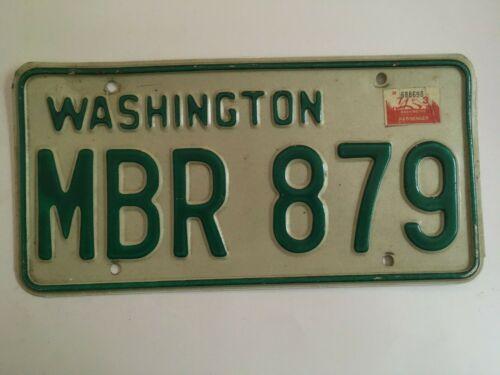 1973 Washington License Plate Natural Sticker on 1968 base 1960s 1970s NICE