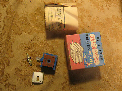 Vintage Nos Nib Selenium Rectifier Sarkes Tarzian Model 75 75ma 130v Max