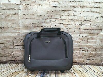 Windham Gray Wheeled Portfolio Laptop Rolling Carry-On Briefcase Bag