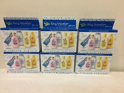 Lot of 6 Johnson's Tiny Traveler Baby Bath And Skin Care Products EXP - 04/19 comprar usado  Enviando para Brazil