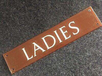 Vintage Ladies Plastic Sign 1950s