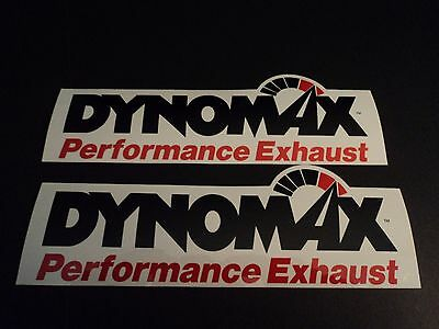 (Lot of 2  Official DYNOMAX Performance exhaust drag racing decals stickers large)