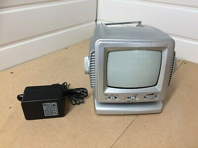 Mini TV/Radio, 5.5 inch screen, Black and White with Power Adapter and Box!