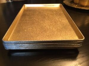 EKCO Commercial Grade Gold Pebble Pattern Baking Display Trays