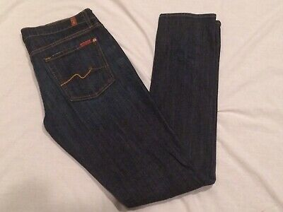 Pre-owned 7 For All Mankind Roxanne Edition Denim Blue Jeans Women's 30 x 34.5  7 For All Mankind Jeans Roxanne