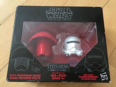 Star Wars Titanium Series Elite Praetorian Guard & First Order Flametrooper