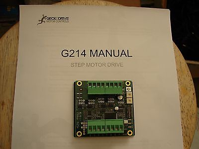 Geckodrive G214 CNC Stepper Motor Driver Gecko Great Price Router Mill Plasma for sale  Shipping to India