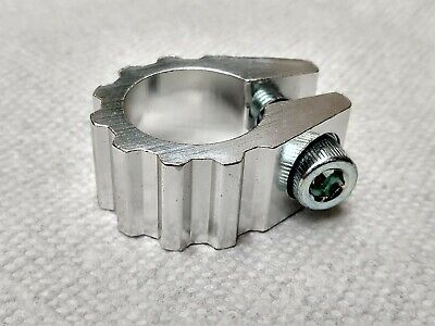 Old School Single Bolt Silver BMX Seat Post Clamp NOS