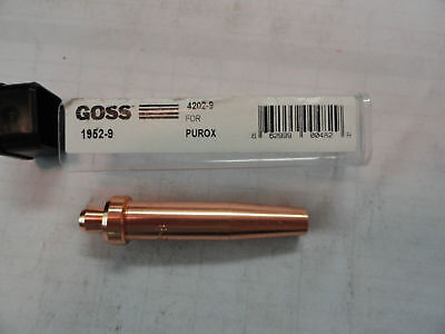 Goss Cutting Torch Tips 1952-9 Esab 4202-9 Brand New Same Day Shipping