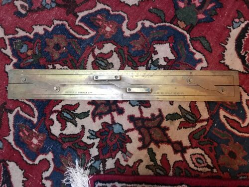 WW2 Kelvin & Hughes Nautical Navigation Parallel Ruler Collectible England GB