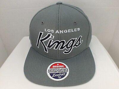 Zephyr Nhl Hut (Los Angeles Kings NHL Retro Grau Snapback Hut Mütze Neu mit Etiketten von Zephyr)