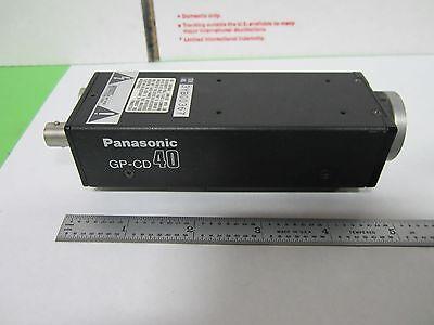Microscope Inspection Video Camera Ccd Panasonic Gp-cd40 Optics As Is Binn4-22
