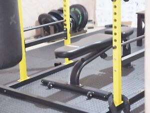 Xtreme Monkey Half Squat Rack with Bumper Plates