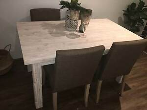 Dining Table & 4 chairs - Freedom Furniture Cancun range Wollstonecraft North Sydney Area Preview