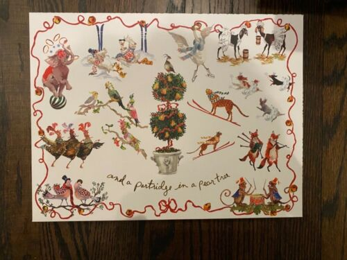 Anthropologie Inslee Fariss Twelve Days of Christmas Menagerie Candle Gift Set