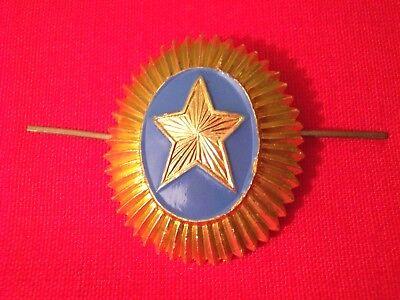 UDSSR Sowjetunion Abzeichen Mützenabzeichen Offizier Armee KASACHSTAN (#42)