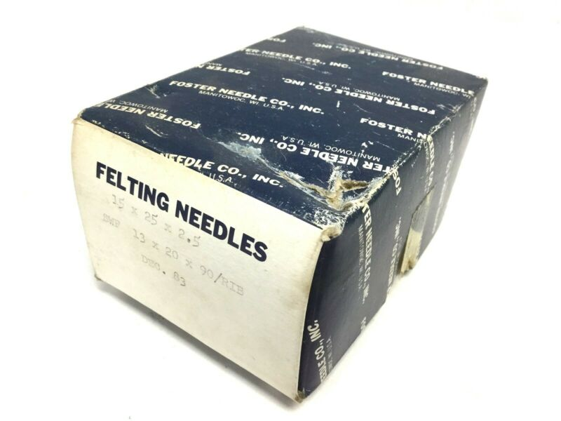 Foster Felting Needles, 1000 Count 15x25x2.5 SWF 13x20x90/RIB Dec. 83