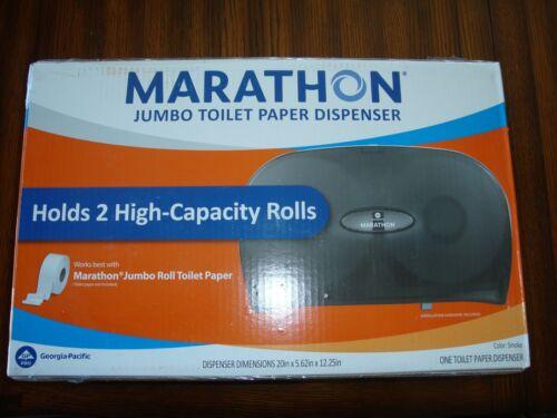 Marathon 6404017 Jumbo (2 Roll Capacity) Toilet Paper Dispenser Color: Smoke NEW