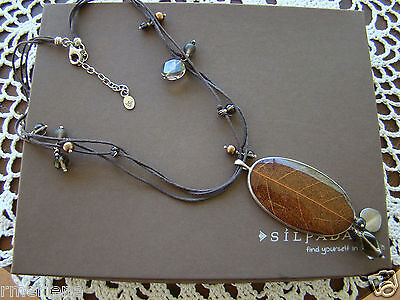 Silpada Soursop Leaf Jasper Pearl Necklace N2100 $109 -
